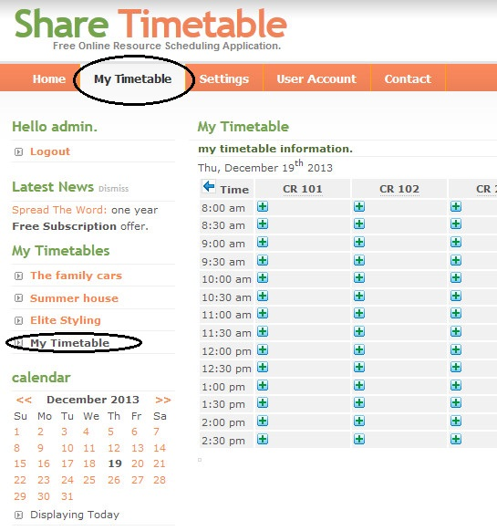 how to create a timetable